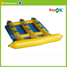 Inflatable sea water trampoline park banana boat games for fun