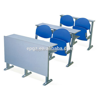 University school folding chair with writing desk,college benches and table