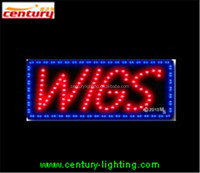 WIGS ANIMATED led sign