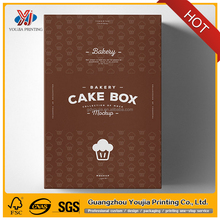 popular colorful cheese cake box packaging