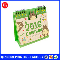 2016 wholesale custom table calendar printing