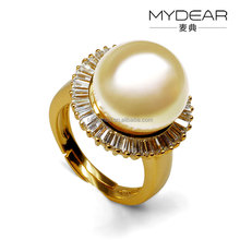 Natural pearl ring/ professional yiwu factory wholesale jewelry