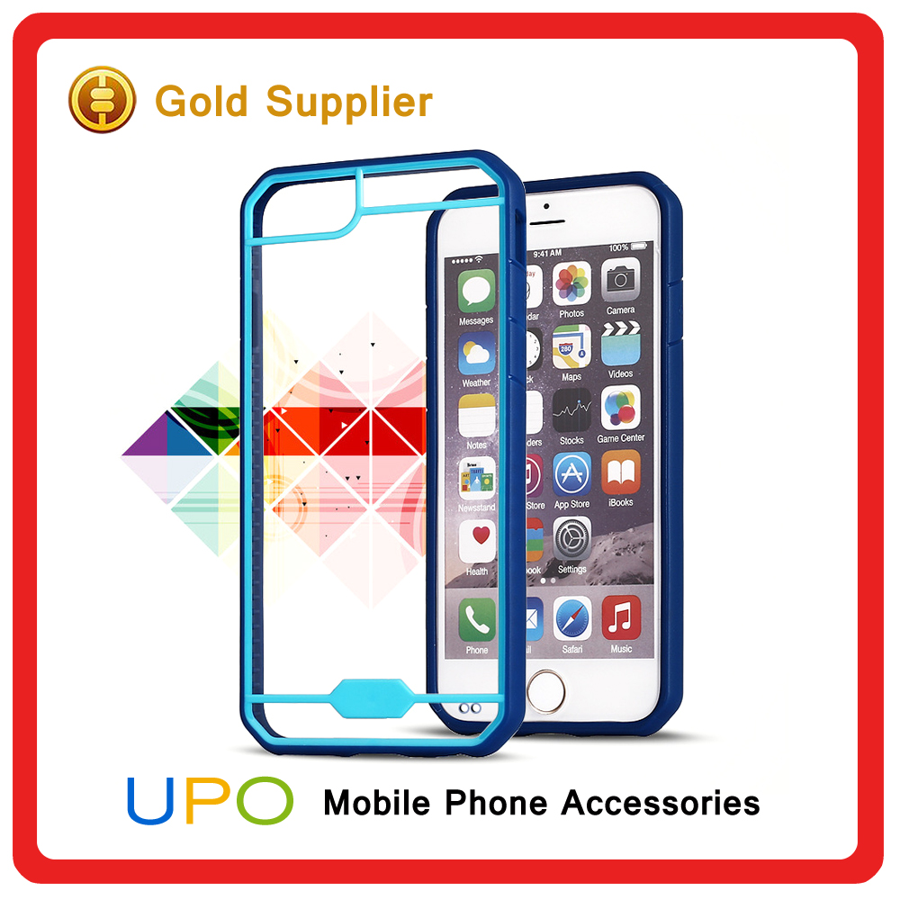 [UPO] 2016 Hot Selling Ultra Slim Crystal Clear TPU+PC Bumper Case for iPhone 7 7 Plus Back Cover