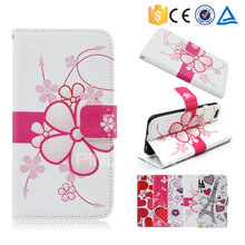 Colorful printing pu leather case flip cover for Konka D557 for other mobile phone