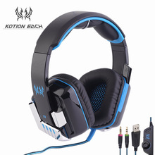 Kotion EACH G8000 Gaming Headset Earphone Headphone for PS4 with Mic LED Light for PC Gamer
