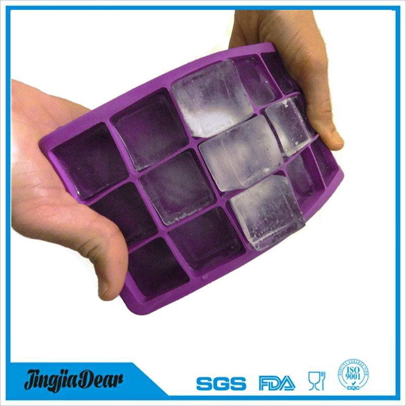 food grade durable ice maker mould 15 cavities soft silicone Ice Cube Tray