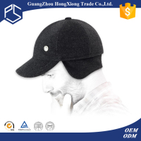 Fancy soft wool ear flaps baseball cap