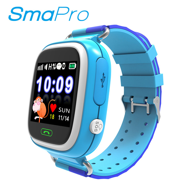 High Quality 1.22 Inch Touch Screen WIFI Tracker SOS Emergency Calling Q90 Baby Kids GPS Smart Watch