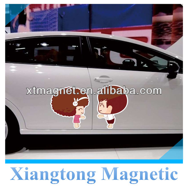Happy Girl and Boy Lovers Water-Proof PVC Magnetic Car Door Sticker and Decal