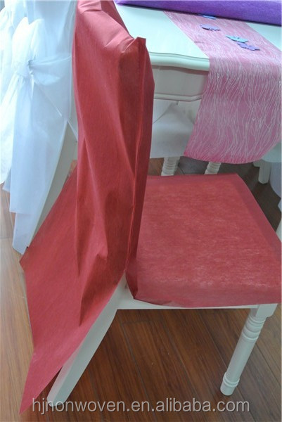 Disposable Burgundy Chair Cover For Wedding