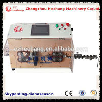 HC-608z double flat sheath dual flat wire cut and strip machine copper cable stripping equipment