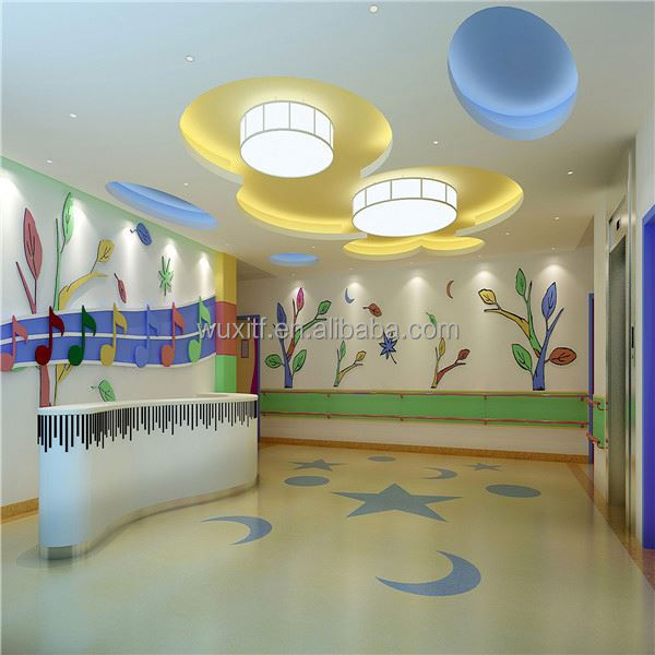 Eco friendly colorful nursery school kindergarten classroom flooring