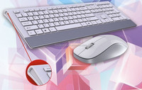 Factory wholesale wireless keyboard and mouse combo with USB connection port