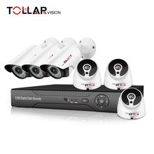 OEM ODM H.264 Professional Home security camera 6ch cctv 720P IP Camera Standalone 6CH DVR Kit manufacture