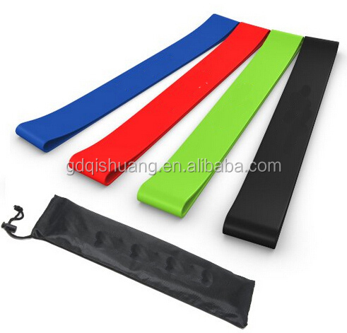 Colourful Fitness 5 Levels Latex Bands Cross Fit Latex Resistance Loop Band 5 Sets for Sale