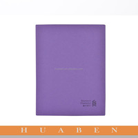 Huaben 2016 Customized emboss logo on the purple pu leather note book