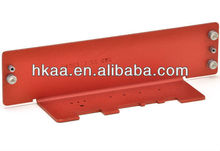 Custom Precision Sheet Metal Fabrication, red anodized aluminum stamping part from manufacturer