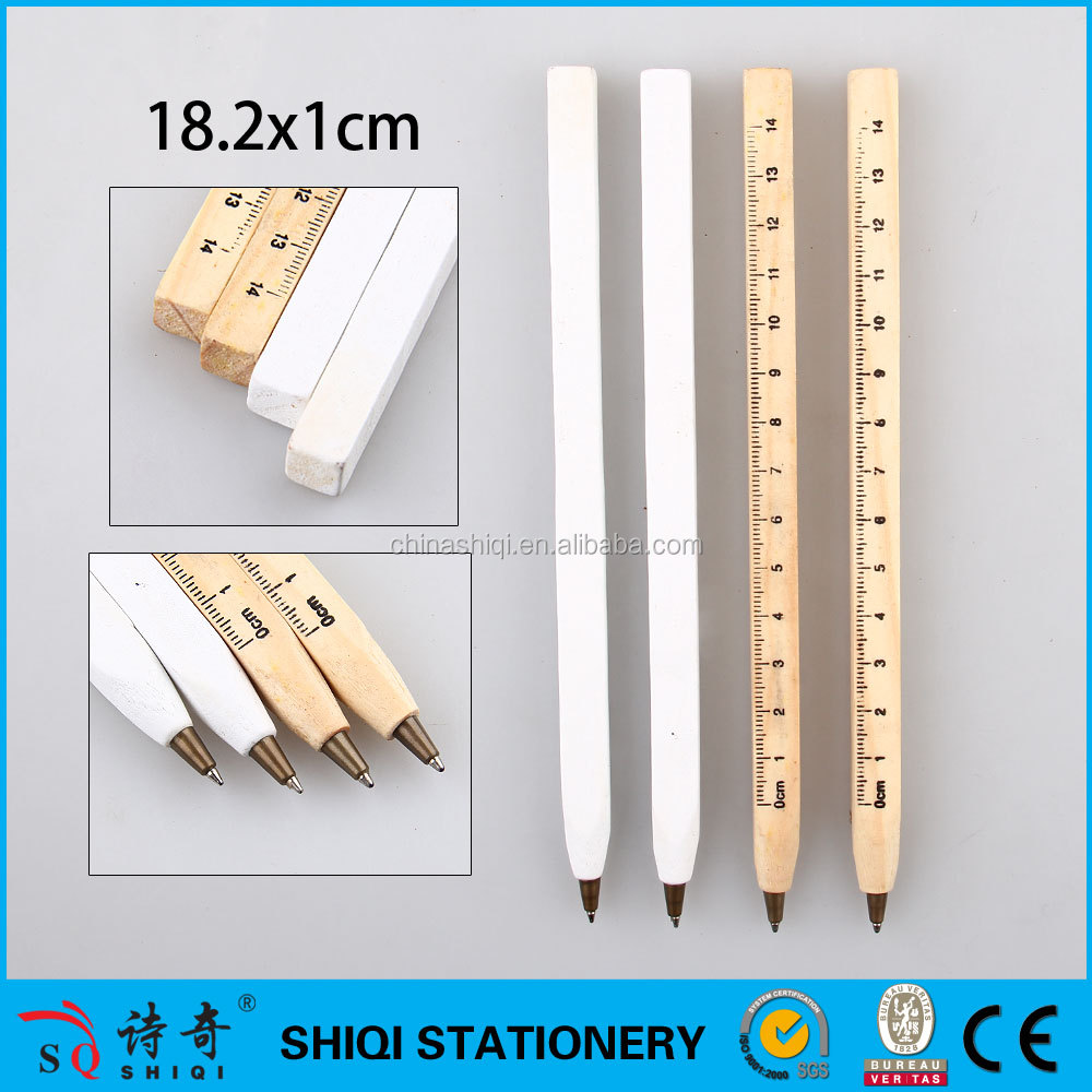 Eco-Friendly Customized ruler wood Pen