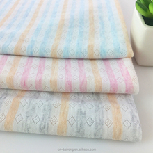 Factory direct baby color striped breathable jacquard cotton knitted fabrics