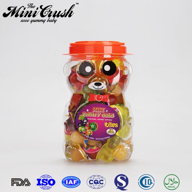 Hot sales lovely bear candies food jar halal gummy candy