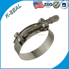 304 stainless steel W4 heavy duty auto T-bolt pipe hose clamp
