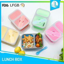 Factory price silicone material military lunch box
