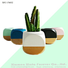 wholesale white ceramic mini indoor flower garden bonsai plant pots