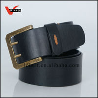 The Newest Mysterious Black Design with Metal Buckle for Men Belt