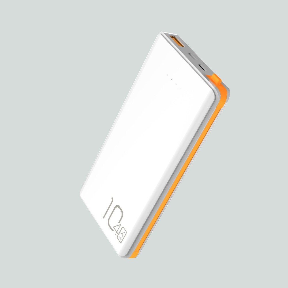 Super fast charge <strong>portable</strong> built in charging line power bank, type-c powerbank 10400mah