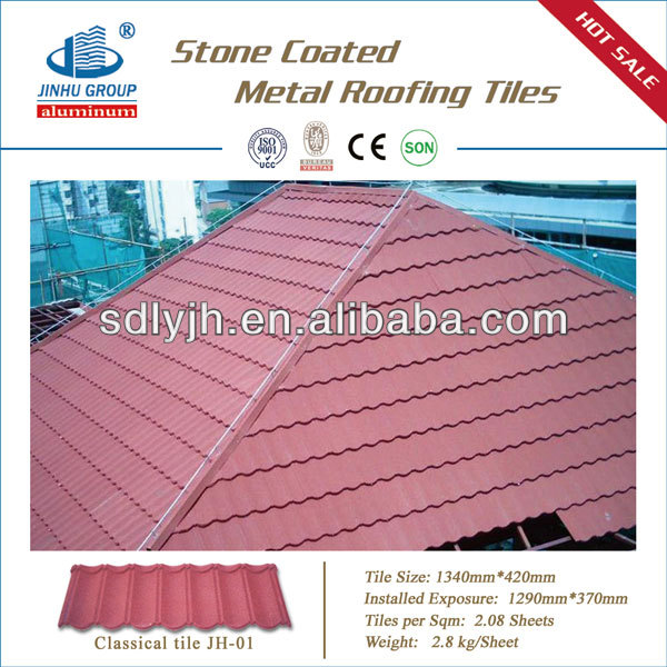 STONE COATED STEEL ROOF TILE / new roofing material