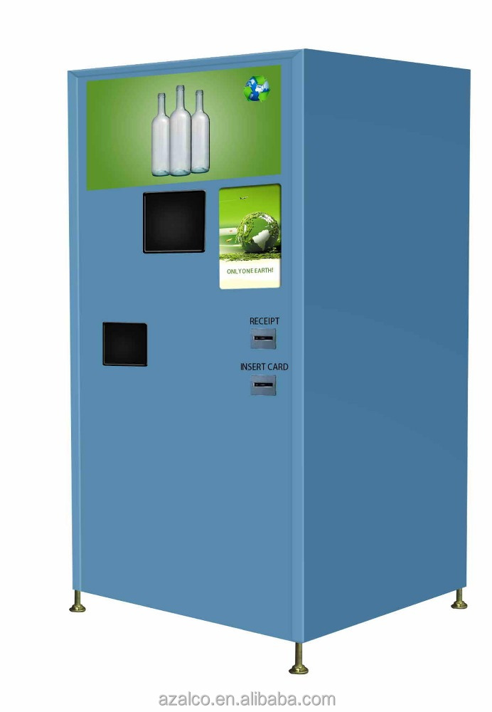 First reverse vending machines for recycle used bottle/cans/glass