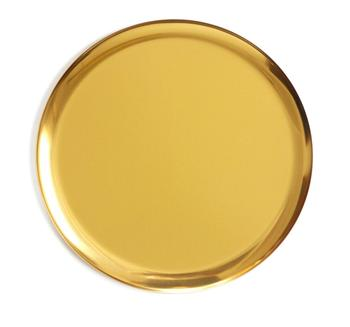 Antique Wholesale Dishwasher Safe Stainless Steel Plates Nordic Style Golden Metal Brass Copper Round Serving Tray