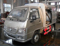 FOTON 4X2 minitye fecal suction truck 18cbm minitype vacuum sewage suction truck capacity tanker vacuum trucks for sale
