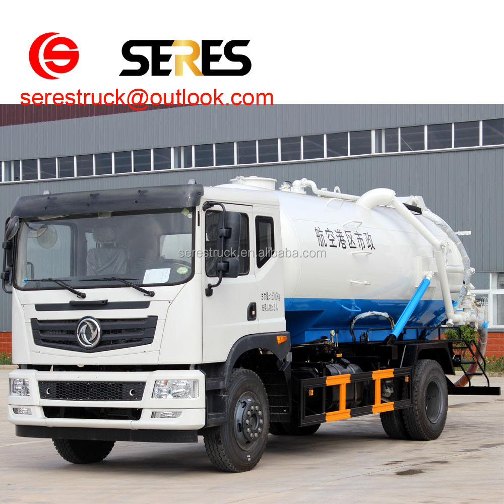 2017 hot sale Dongfeng 4*2 9000 Litres Vacuum Sewage Suction Tanker Truck