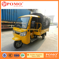 2016 Chinese Popular Motorized Gasoline Closed Cabin Cargo 250CC 800CC Engine Motorcycle With Cabin