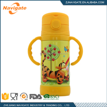Factory Direct Sale Water Bottle For Kid Cartoon Priting Steel Travel Water Bottles With Handle
