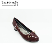 Reddish Brown Round Toe Women Dress Dancing Sexy High Heel Shoe