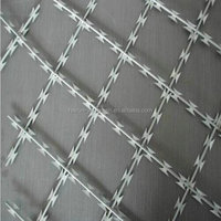STAINLESS STEEL 304 OR 316 TYPE WELDED RAZOR WIRE MESH FOR HIGH LEVEL SECURITY INDUSTRY