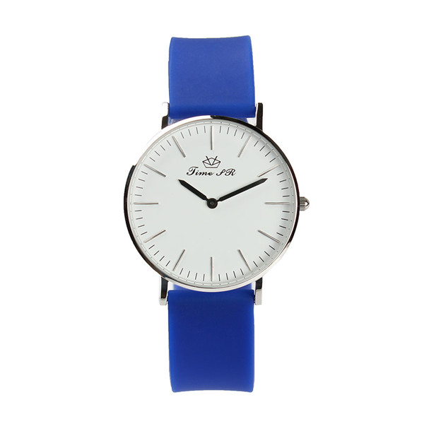 Silicone strap quartz polished case modern luxury watch