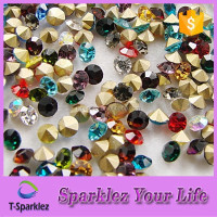 Colorful crystal point back rhinestones 2mm - 9mm