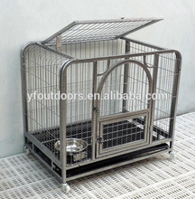 New arrival good quality square steel tube dog cage with wheels