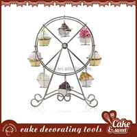 Metal the ferris wheel cupcake stand