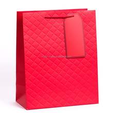 Promotional Hand bag Red Quilted Large Gift Bag mini paper bags