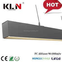 High quality with 2835 high efficacy Aluminum Alloy+ PC high efficacy lamp source LED linear light