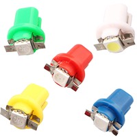 T5 W5W T6.5 T4 Auto CAR 1 SMD LED Dashboard Light Bulbs