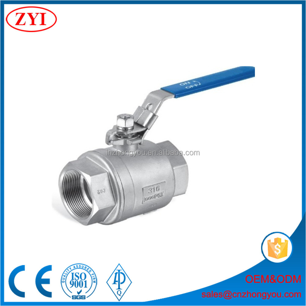 Wenzhou factory supply high quality female screw ball valve