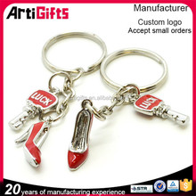 Promotional metal mini dance shoe keychain