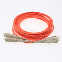 Duplex sc connector to 62.5/125um OM1 upc multi mode fiber optic patch cord