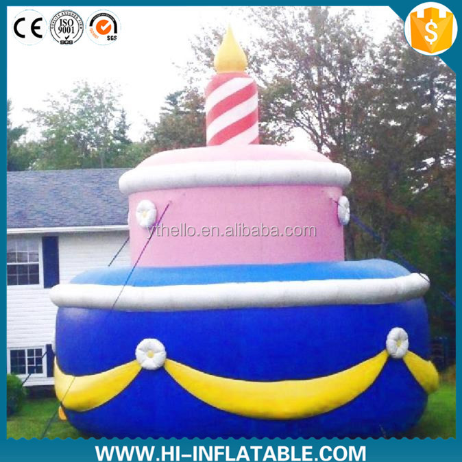 Hot sale birthday decoration inflatable replica air bubble cake