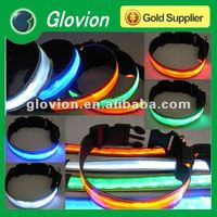 New eco-friendly design crystal lattice pet collars for dogs, led collar for dog, dog collar